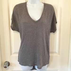 Express One Eleven Gray knit V Neck High low top S